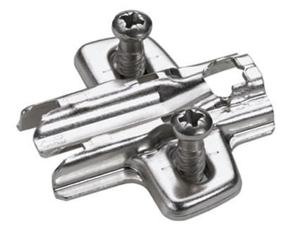 Hettich Cross Mounting Plate 0mm Euro Screw - 19mm Board