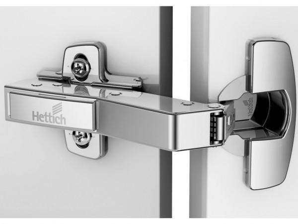 Hettich 45° Sensys Clip On Hinge Push Open - Half Overlay B