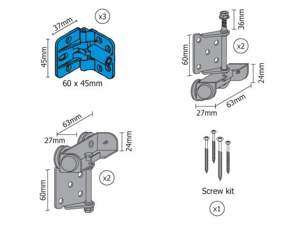 Smart Kit for 2 folding doors